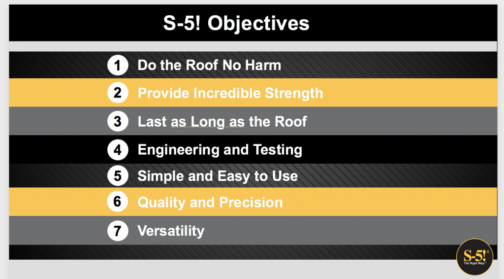 S-5! Objectives