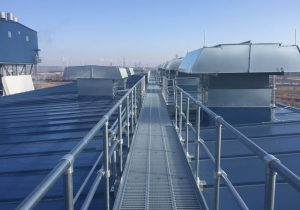Design components rooftop walkway system